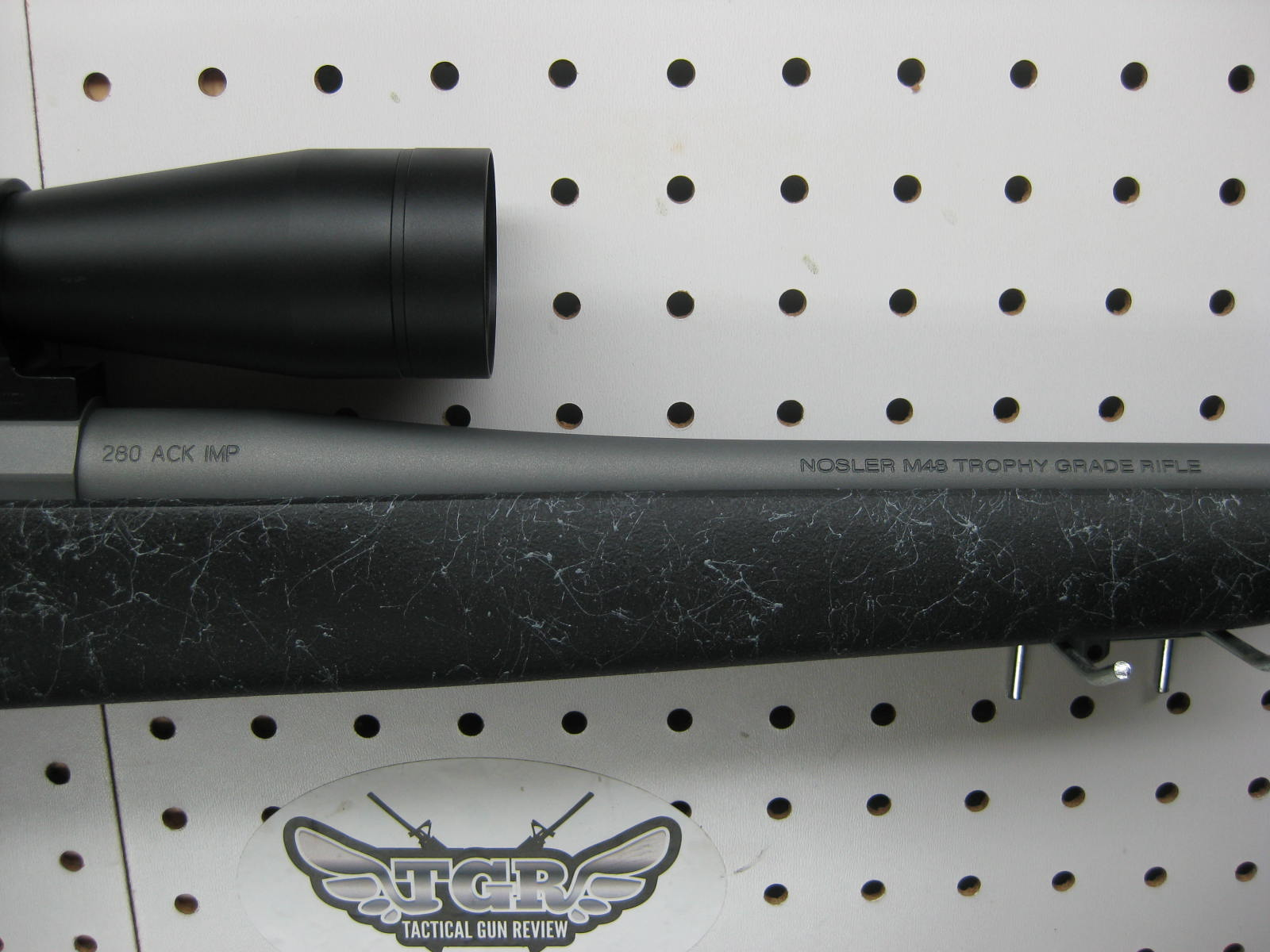 Nosler 280 Ackley Improved http://tacticalgunreview.com/blog/2011/08/nosler-trophy-grade-280-ackley-improved-review/