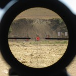 Leupold Mark 8 1.1-8 CQBS reticle picture at 250 yards illuminated