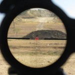 Leupold Mark 8 1.1-8 CQBS reticle picture at 500 yards illuminated