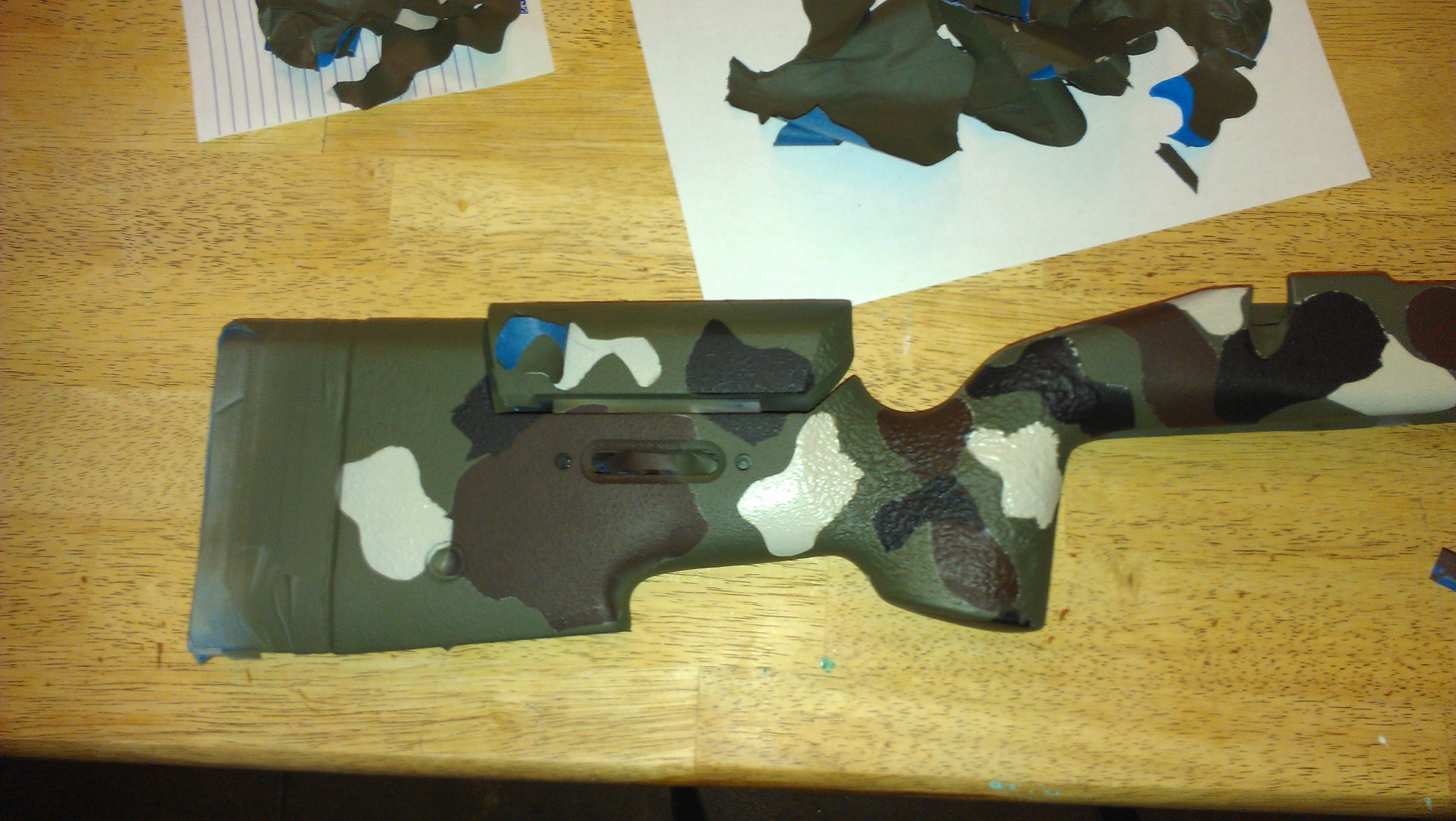 Rifle Stock Camoflauge Painting DYI: a how-to guide. | Gun Reviews ...