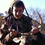 My son gets his first buck!