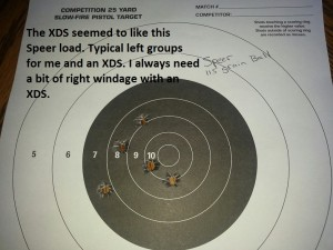 XDS 9mm Speer 115 ball