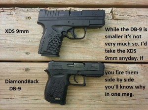 XDS compared to worlds smallest 9mm the DB-9