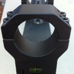 AADMOUNT30mm AR15 Scope Mount rear view with bubble