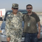 Kazakh captain and the author in FOB Delta, 2008