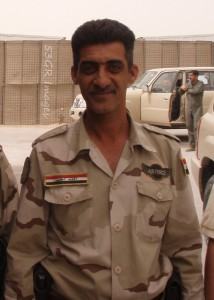 Warrant Officer Mohammed, a driver of the Iraqi Air Force
