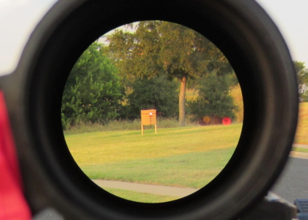 Steiner Military 1-5 reticle at 100 yards