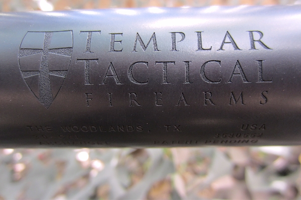 Templar Tactical laser etched