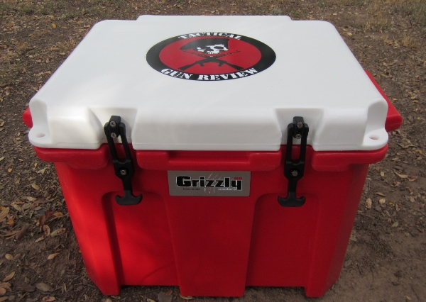 Grizzly 60 Cooler with TGR logo