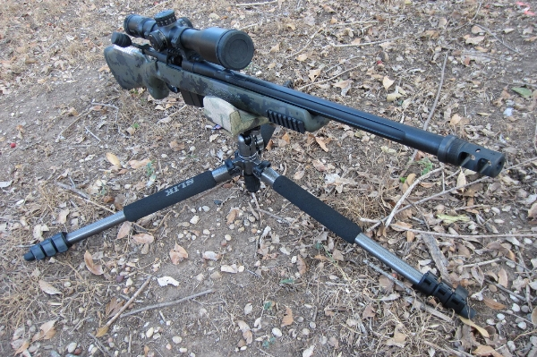 PRS Rifle Tripod setup low for prone use