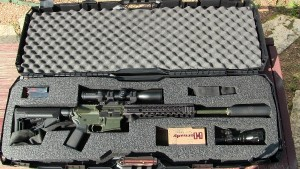 Patriot Cases AR15 case with Wilson Combat 6.8