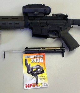 AR with Hiperfire trigger installed