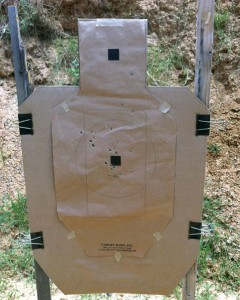 Test target for TRI drill