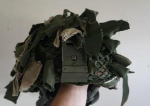MSA TC2000 ballistic helmet with Swedish helmet net scrim