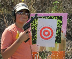 david with ruger and target