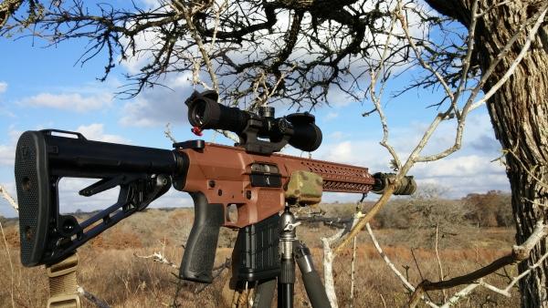 Wilson Combat 308 on Precision Rifle Solutions tripod
