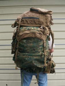 DevilCat with a FILBE assault pack clipped on top.