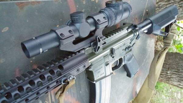 Trijicon Accupoint 1-6 mildot on a Wilson Combat 6.8 SPC