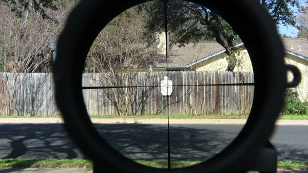 Steiner T5Xi 1-5 reticle picture at 1x at 25 yards