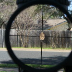 Trijicon Accupoint 1-6 Mildot reticle at 1x at 25 yards