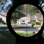 Trijicon Accupoint 1-6 Mildot reticle at 6x at 250 yards