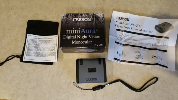 Everything the Carson NV-200 comes with.