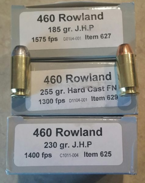 Underwood 460 ammo boxes with their speed claims.