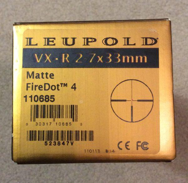 Leupold VX-R 2-7X33 scope review | Gun Reviews | Tactical