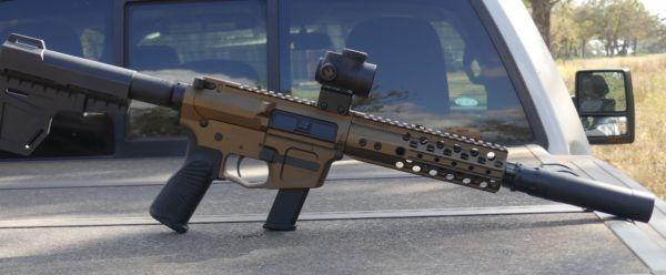 Wilson Combat AR 9 back of truck